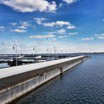 Ostroga Północna molo w Sopocie na koniec sezonu żeglarskiego